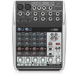 Behringer Q802USB Xenyx Premium 8-Kanal 2-Bus Mixer mit Mic Preamps/Kompressoren/British EQs und...