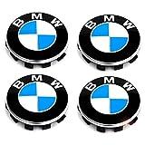 Satz von 4 Nabenkappen Felgendeckel Radnabendeckel für BMW, Nabendeckel 56mm Felgenkappen für BMW...