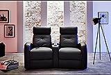 Wohnorama Houston 2er Fernsehsessel Cinema Sessel Heimkino Kinosessel mit Getränkehalter by