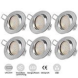 Tobbiheim LED Einbaustrahler Schwenkbar, 6 x 5W Ultra Flach LED Spots Inkl LED Modul 230V...