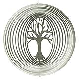 CIM Edelstahl Windspiel - Lebensbaum 200 - lichtreflektierend - Durchmesser: 20cm - inkl. Aufhngung