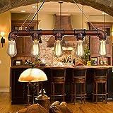 Lixada Vintage Retro Pendelleuchte Wasserrohr Geformt E27 Hngelampe mit 5 Fassungen