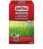 SUBSTRAL Rasendünger mit Unkrautvernichter 0,8 kg - Bekämpft alle typischen Rasenunkräuter bei...