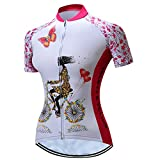 Radfahren Jersey Frauen Fahrrad Trikots Rosa MTB Straßenberg Bluse Kurzarm Fahrrad T-Shirts Top...