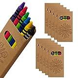 WPRO Kids Wachsmalstifte 10-er Set | Gastgeschenk Kindergeburtstag Mitgebsel | Crayons in 6 Farben |...