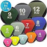 C.P.Sports Medizinball farbig - Gummimedizinball in 1 kg bis 12kg Gewichtsball Krafttraining,...