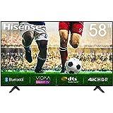 58' Hisense 4K HDR Ultra HD-Fernseher, DTS-Sound, DLED-Hintergrundbeleuchtung, Panel-Bittiefe 8 Bit...