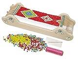 Small Foot 11251 Perlenwebrahmen aus Holz, zum Umsetzen individueller Schmuckdesigns Spielzeug,...