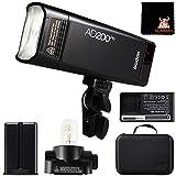 Godox AD200Pro Pocket Blitz Kit Kamera Blitzgerät Speedlight HSS 1/8000s 2,4G TTL Fresnel Blitzkopf...