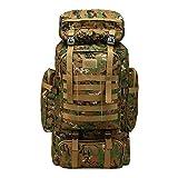Fleeting Time Rucksack, groes Fassungsvermgen, 80 l, Camouflage, Outdoor-Rucksack fr Reisen,...