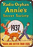 DKISEE Aluminum Safety Sign 1937 Orphan Annie's Secret Society Vintage Look Reproduction Durable...