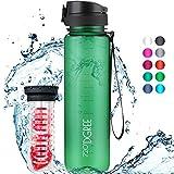 """720°DGREE Trinkflasche """"uberBottle"""" crystalClear +Früchtebehälter - 1L - BPA-Frei -..."""