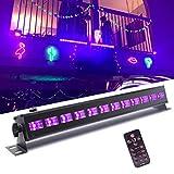 UV Beleuchtung, UKing Schwarzlicht LED mit 12 x 3W UV LED Bar Lichteffekte mit Fernbedienung...