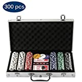Grandma Shark Texas Hold'em Poker Chips mit Alumium Case Blackjack Gambing mit Carying Case und...