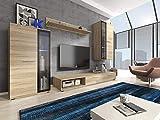 Furniture24 Wohnwand Pino, Anbauwand, Hängeschrank, Hängeregal, Vitrine, TV Lowboard, Mediawand...