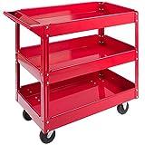 Arebos Werkstatt-Rollwagen Montagewagen/Große Belastbarkeit bis 100 kg / 2 oder 3 Fächer/Einzeln...