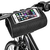 EliveSpm Fahrrad Lenkertasche multifunktional mit abnehmbarem Schultergurt und Transparentem...