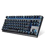 EasySMX Mechanische Tastatur, 2.4G Wireless Gaming-Tastatur Anti-Ghosting-Computertastatur, mit 87...