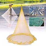 Kenthia 4,5 m Nylon 0,66 Zoll Mesh Angelnetz Handwurfnetz Wurfnetz mit Sinker Meeresangeln