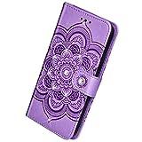Herbests Kompatibel mit Samsung Galaxy A20S Handyhlle Handytasche Mandala Blumen Muster Leder Hlle...