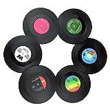 Txian 8 Retro Vinyl LP Schallplatten Stil Untersetzer Tasse Matte Rutschfeste Isolierte Kaffee...
