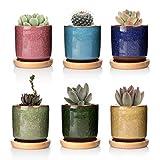 T4U 6.3cm Keramik Sukkulenten Töpfe Kaktus Pflanze Töpfe Mini Blumentöpfe EIS Crack Höher Serie...