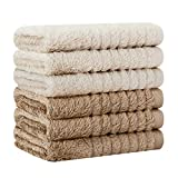 DAPTSY Waschlappen Handtücher Set Handtuch Bambus Baby Waschlappen Frottier Seiflappen...