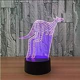 new 3D-LED-Illusionslampe USB Power Bank 3D-LED-Nachtlicht Batteriebetriebene LED-Kindertischlampen...