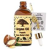 SEHR GUT IM TEST - R&M Beauty-Oleo Bio Argan-Öl aus Marokko - Fair Trade - Haare, Gesicht, Nägel -...