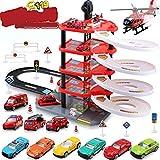 AIOXY Parkhaus Kinder Spielzeug, Parkgarage Garage Mit 5 Ebenen Und Zubehör Parkhaus Für...