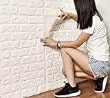 DODOING 3D Brick Muster Tapete, 3D Ziegelstein Tapete Wandaufkleber Wandtattoo Papier Abnehmbare...