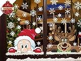 Heekpek Schneeflocken Fensterdeko Fensterbilder für Weihnachten Winter Dekoration Türen...