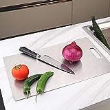 tableware-GQ 304 Edelstahl Schneidebrett Reinigen Sie große Schneidebretter, Unique Safe...