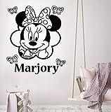 yaonuli Vinyl wandaufkleber Maus wandaufkleber benutzerdefinierte Baby Name Kindergarten wandbild...