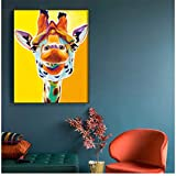 RuiChuangKeJi Wall Art Canvas Painting Nordic Colorful Giraffe Poster Modern Animal Prints Pictures...