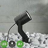 Lampenwelt LED Erdspießleuchte 'Maris' dimmbar (Modern) in Schwarz aus Metall (1 flammig, E27, A+,...