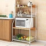 HttKse Durable Kitchen Bakers Rack-Utility Storage Shelf 4-Tier-Regal Mit 2 Drahtkörbe for Ofen...
