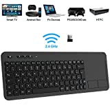 TedGem Wireless Tastatur, Touch Tastatur 2.4G USB Tastatur Wireless Keyboard PC Tastatur USB mit...