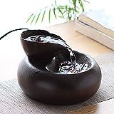 Katzen Trinkbrunnen Keramik-Trinkbrunnen für Haustiere-1,5 Liter Keramik Wasserspender für Hunde...