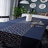 N/D Abwaschbar Tischdecke Eckig Wasserdicht Oxford Stoff Tischtuch Tischwäsche Pflegeleicht Garten...
