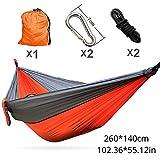 SHLYXY Hngematte Outdoor,Leichte Nylon Parachute Double Hammock Multifunktional-orange graue...
