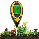Aulande Bodentester Feuchtigkeitsmessgerät Pflanzen, 4-in-1...