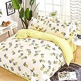Bettwäsche Set Hypoallergen,Bettwäsche Set Baumwolle Kind, gedruckt Niedlichen Tier Quilt...