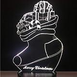 3D Weihnachtsstrumpf Nachtlicht,7 Farben Berührungssteuerung Zuhause Dekor Tischleuchte,Optische...