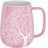 amapodo Kaffeetasse groß aus Porzellan mit Henkel 600ml Jumbotasse XXL Keramik Kaffeebecher Rosa...