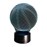KangYD Basketball 3D Illusion Nachtlichter, LED Schreibtischlampe, Home Decoration Lampe, Touch LED,...