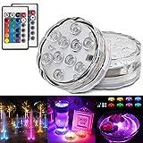 Kangler Tauchbare LED-Leuchten mit Fernbedienung, Unterwasser-Teichlichter, wasserdicht,...