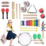Herefun Musikinstrumente Kinder Set, 22 Stück Holzspielzeug Musical Percussion Instrumente Set...