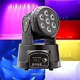 U`King LED Lichteffekte DMX512 Mini Moving Head 4 Farbe RGBW 5 Steuerungsmodus Disco Licht mit 9/14...