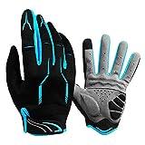 Vollfinger-Fahrradhandschuhe mit Gelpolsterung, Outdoor-Sport-Touchscreen-Handschuhe für Männer...